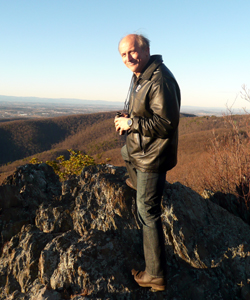Brendel on an outlook near the Blue Ridge Parkway in Afton, Va.